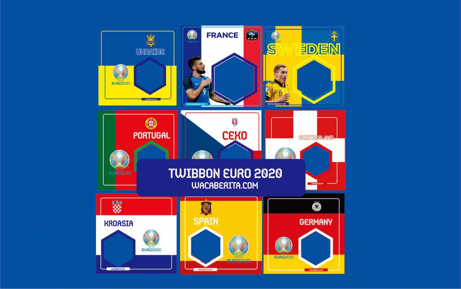 template twibbon euro 2020